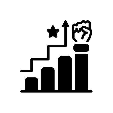 Icon for success,triumph Illustration