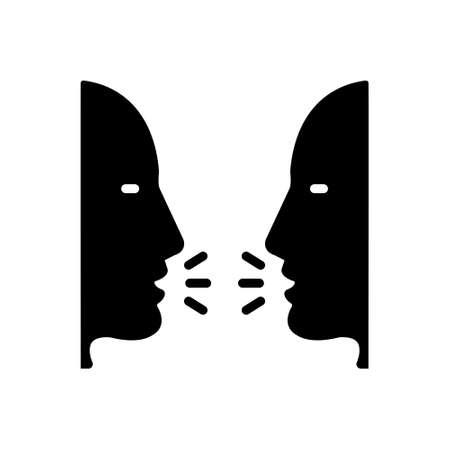 Icon for talk,gossip,conversation Illustration