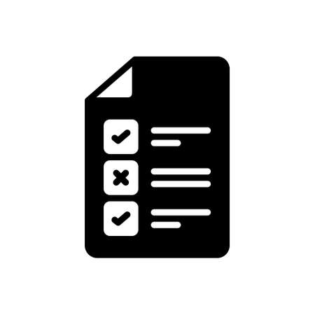 Icon for test,approval,evaluation Illustration