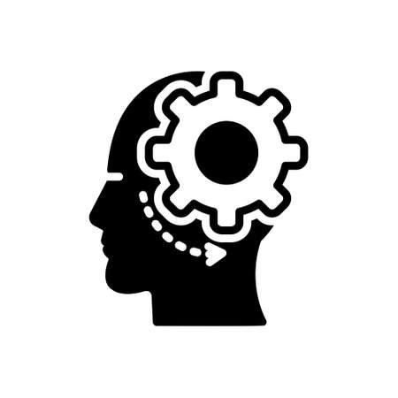 Icon for brain process,brain,process Illustration