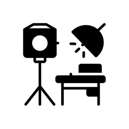 Icon for studio,photography Illustration