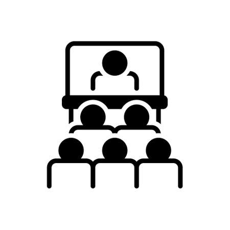 Icon for audience in presentation of business,audience,presentation