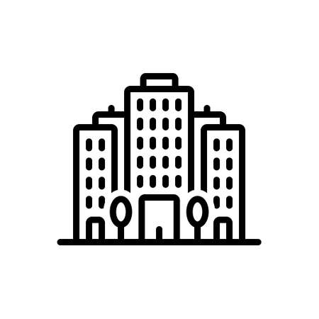 Icon for office block ,apartment