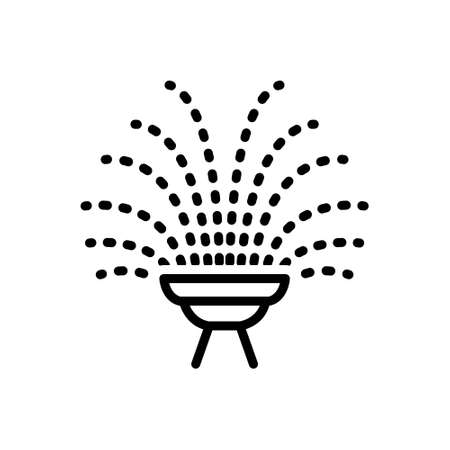 Icon for fountain,wellhead 向量圖像