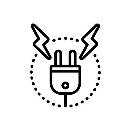 Icon for high voltage,resistance