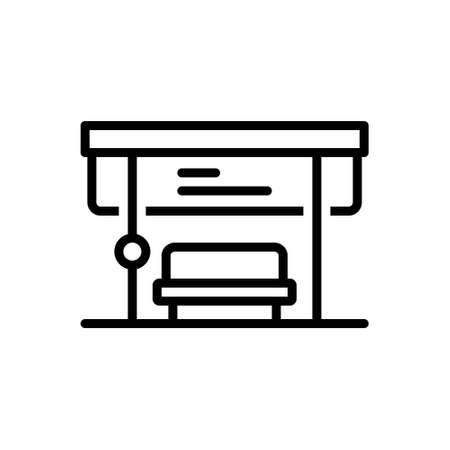 Icon for bus stop,bus,stop,departure 向量圖像