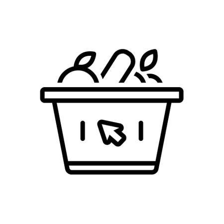 Icon for supermarket,variety store,grocery 向量圖像
