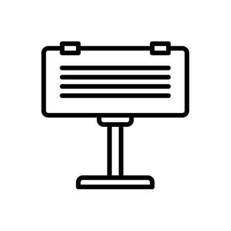 Icon for billboard,placard 向量圖像
