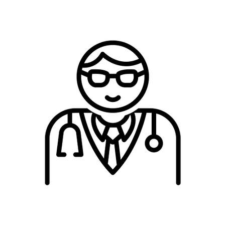 Icon for medical assistance man, doctor, physician 向量圖像