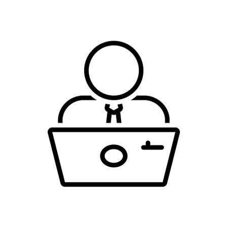 Icon for employee,practician 向量圖像