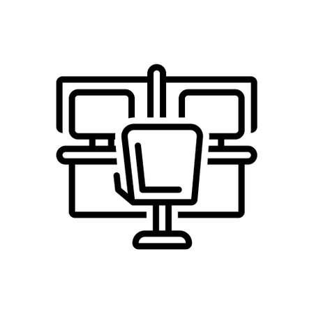 Icon for office,bureau 向量圖像
