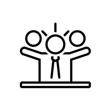 Icon for leader,supervisor