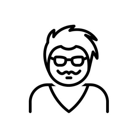 Icon for hipster,mustache 向量圖像