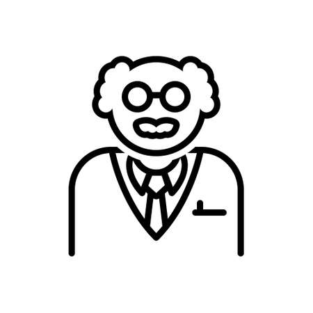 Icon for scientist,erudite 向量圖像