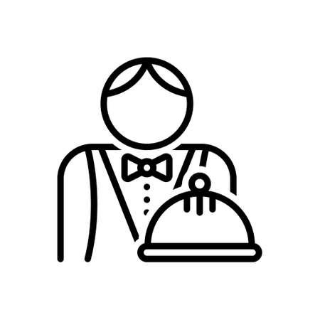 Icon for waiter,attendant