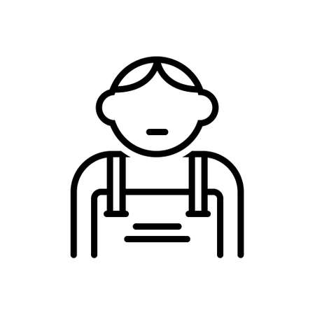 Icon for kid,tad,laddie 向量圖像