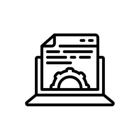 Icon for content management,gratified