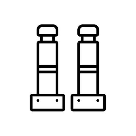 Icon for bollards,industrial