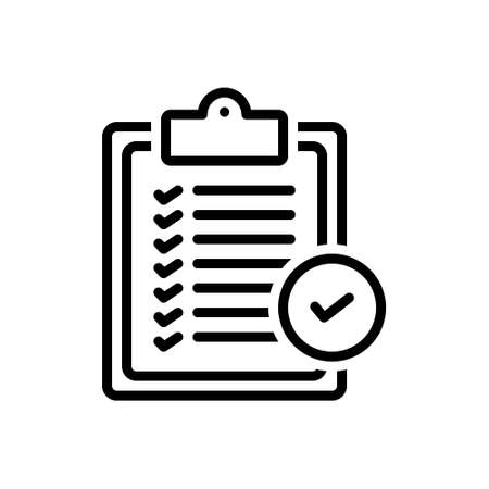 Icon for verfication of delivery  list clipboard,verfication 向量圖像