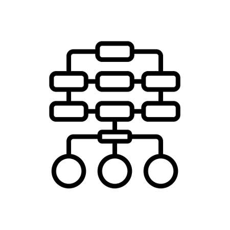 Icon for sitemap,layout 向量圖像