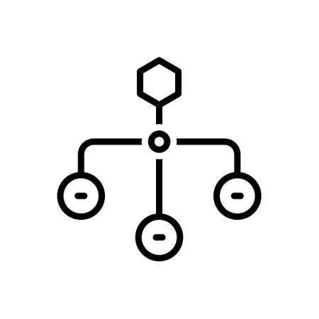 Icon for hierarchical structure,sitemap,layout 向量圖像