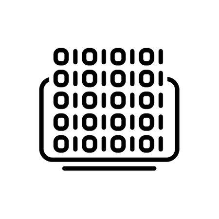 Icon for binary coding,binary,coding
