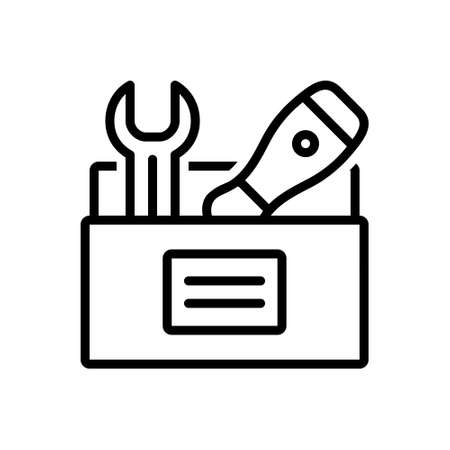 Icon for toolbox,calibrating Illustration