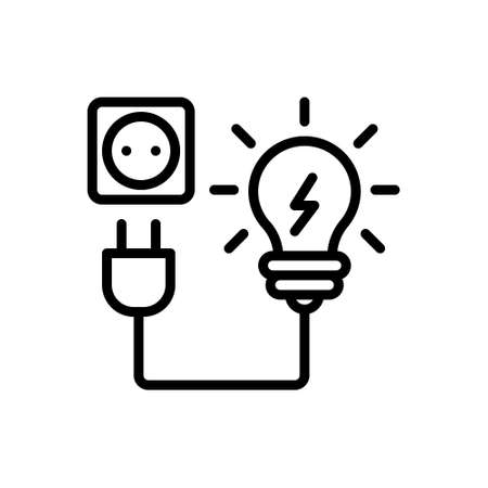 Icon for electricity,power