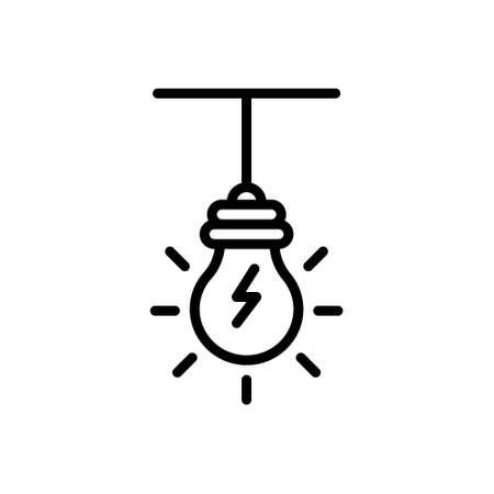 Icon for light bulb,light Illustration