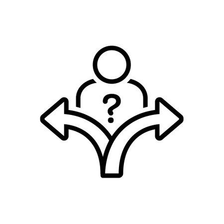 Icon for decision,verdict