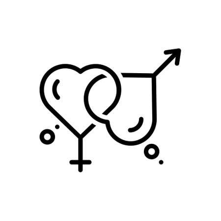 Icon for married,marital Ilustración de vector