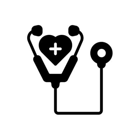 Icon for care,stethoscope