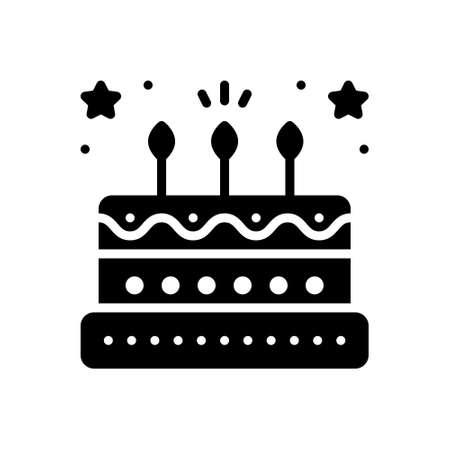 Icon for birthday cake Illustration
