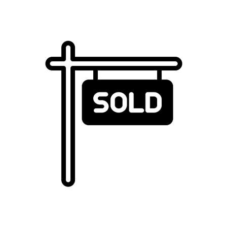 Icon for sold sign,sale Illustration