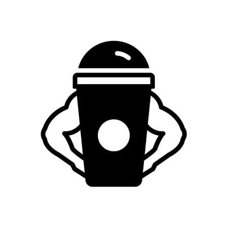 Icon for protein shake Illustration