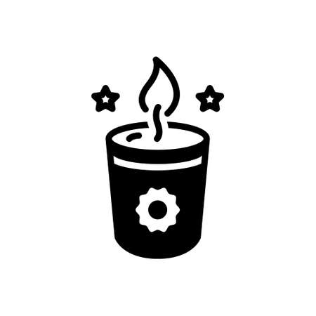 Icon for soy candle Illustration