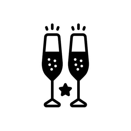 Icon for champagne glasses,toast