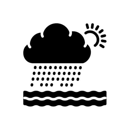 Icon for heavily raining with cloudy sun