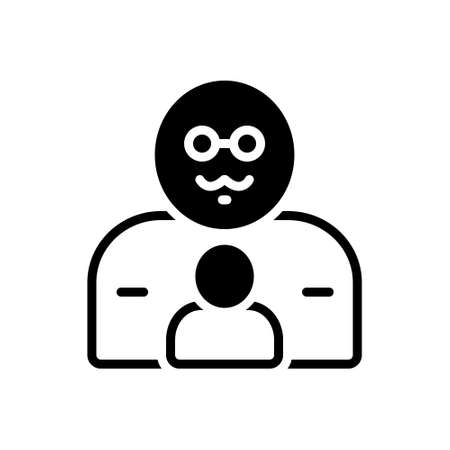icon for father with son Banque d'images