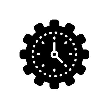 Icon for efficiency,time Illustration