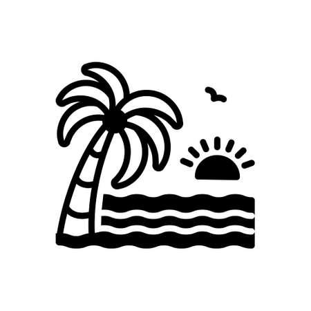 Icon for beach,sea