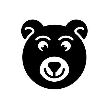 Icon for bear,animal Illustration