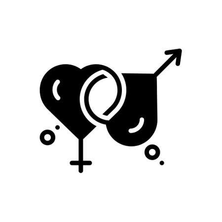 Icon for married Ilustración de vector