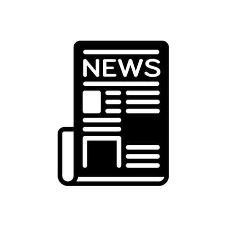 Icon for newspaper,tabloid Vektoros illusztráció