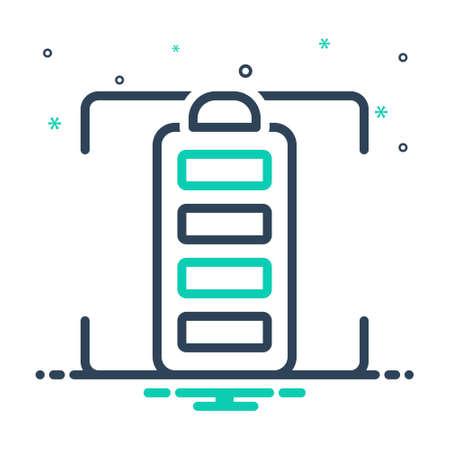 Icon for full,battery,charge Vektoros illusztráció