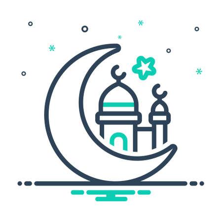 Icon for eid ul fitr,muslim
