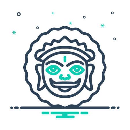Icon for mewar,lord surya Illustration