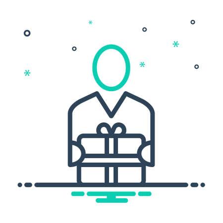 Icon for recipients,receiver
