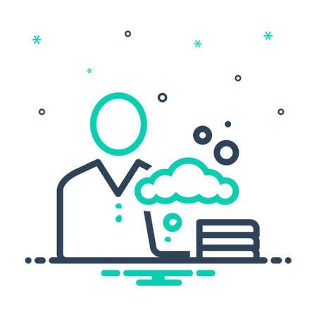 Icon for washer,laundry Illustration