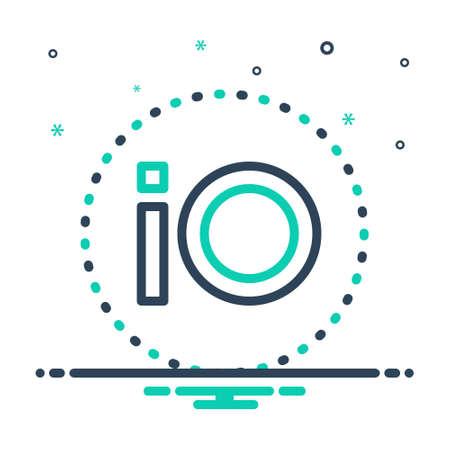 Icon for io,software Illustration
